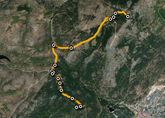 Mapa de la ruta del Monte Abantos