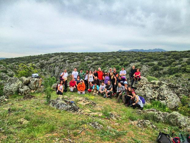 Embalse de El Villar grupo senderismo