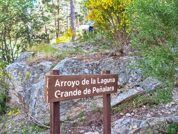 Cartel Arroyo de la Laguna Grande de Peñalara